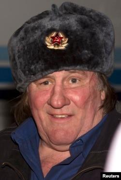 Жерар Депардье по прибытии в Грозный, февраль 2013