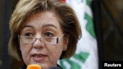 المتحدثة بإسم القائمة العراقية ميسون الدملوجي تعلن (الأحد) عودة أعضاء قائمتها الى جلسات مجلس النواب