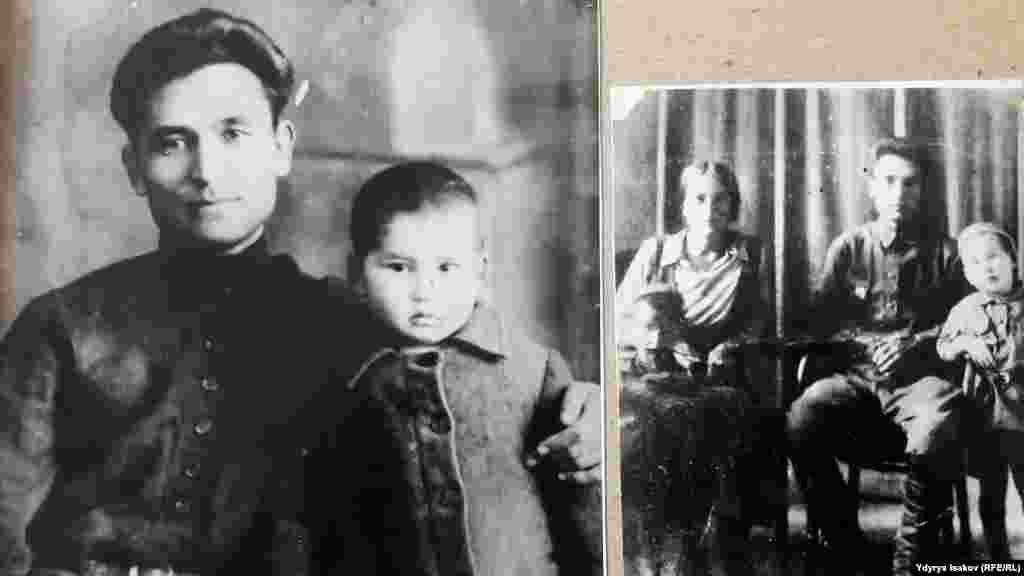 Чингиз Айтматов с отцом Торекулом Айтматовым и матерью Нагимой Айтматовой.