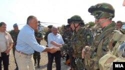 Premierul Bulgariei,Boyko Borisov la lansarea menevrelor conduse de NATO, 11 iulie 2017
