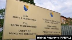 Tabla ispred Suda i Tužilaštva BiH, foto: Midhat Poturović