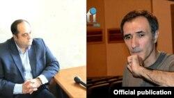 Новоназначенный министр юстиции Ованнес Манукян (слева) и актер Вардан Петросян