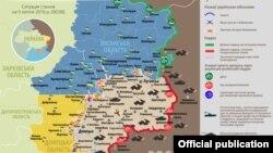 Қарулы жанжал аймағындағы ахуалды суреттейтін карта. 9 шілде 2016 жыл.