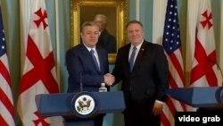 ABŞ dövlət katibi Mike Pompeo (sağda) və Gürcüstanın baş naziri Giorgi Kvirikashvili mayın 21-də Vaşinqtonda görüşüblər
