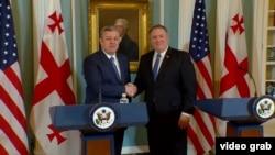 Георгий Квирикашвили и Майк Помпео в Вашингтоне, 21 мая 2018 г.