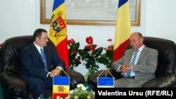 Vlad Filat şi Traian Băsescu la Iaşi, 19 august 2010