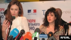 Actress Olga Kurylenko (left) and director Michale Boganim