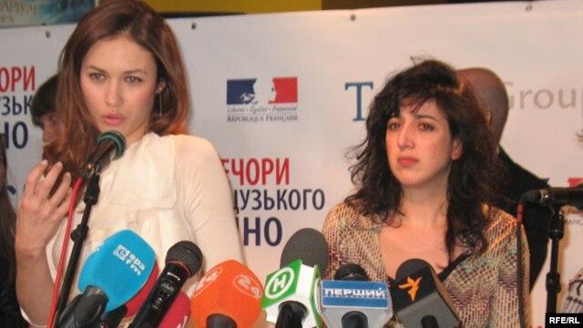 Actress Olga Kurylenko (left) and director Michale Boganim