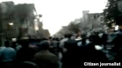 نمایی از تظاهرات روز سهشنبه ۱۰ اسفند در تهران