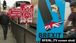 Ilustrarea Brexitului pe străzile din Londra