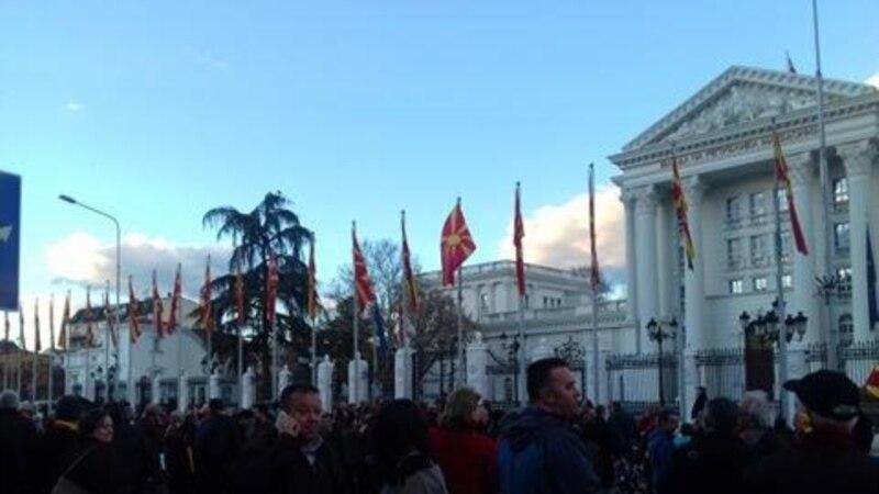 Четврта недела протести не ни треба ЕУ и НАТО  туку попис