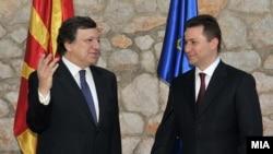 Никола Груевски и Жозе Мануел Баросо
