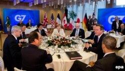 """Участники саммита """"Большой семерки"""" в Брюсселе"""