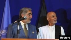 Двајцата кандидати за претседател на Авганистан, Ашраф Гани и Абдула Абдула