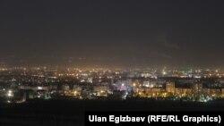 Түнкү Бишкек. Архивдик фото.