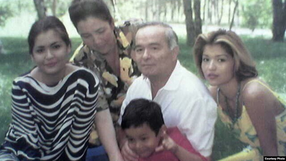 The Karimovs in happier days: (left to right) Lola, Tatyana, Islam with Gulnara's son, and Gulnara