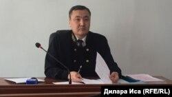 Судья Еркебулан Тулешов.