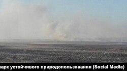 Выгоревший Муравьевский парк в Амурской области