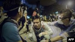 Pamje nga protestat në Hong Kong