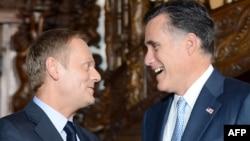 Беседа Митта Ромни с польским премьером Дональдом Туском