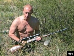 Владимир Путин в заповеднике в Республике Тува. 2007 год
