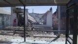 Одно из зданий в Арыси, разрушенное в результате взрывов снарядов, 25 июня 2019 года.