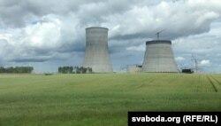 Будаўнічая пляцоўка Беларускай АЭС у Астравецкім раёне.