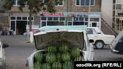 Becuase of the ban, vendors are selling melons and watermelons on the sides of roads instead of in bazaars