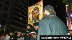 Beograd: Protest desničara protiv Prajda