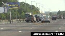 Кортеж Ігоря Коломойського на Обухівській трасі під Києвом