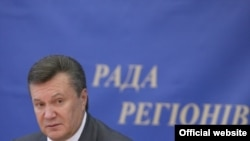 "Ukraine -- Viktor Yanukovych at a ""Council of Regions,"" Bucha, Kiev Region, 09Sep2010"