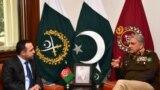 په پاکستان کې د افغانستان سفیر عاطف مشعل د دغه هېواد د پوځ له لوی درستیز سره د لیدو پرمهال. ۲۰۱۹، فبرورۍ ۵مه