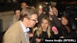 Aleksandar Vučić u obraćanju medijima uoči sednice Predsedništva SNS-a, Beograd