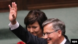 Noul președinte polonez Bronislaw Komorowski