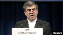 The head of Iran's Atomic Energy Organization Fereydoun Abbasi-Davani.