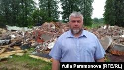 Артур Русяев и руины молельного дома