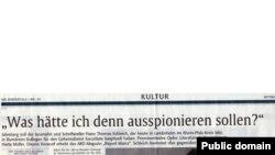 """articolul din """"Rheinphalz"""""""