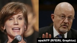 Former U.S. Deputy Attorney General Sally Yates (left) and James Clapper, the director of national intelligence for former U.S. President Barack Obama. (composite file photo)