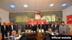 اعضای چهارمین دوره شورای شهر مرند در جلسه گشایش این دوره