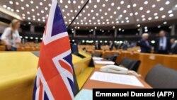 Un steag britanic în Parlamentul European