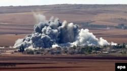 Kobanidə ABŞ koalisiyasının endirdiyi hava zərbələrindən yüzlərlə İD yaraqlısı öldürülüb
