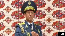 "Hakberdy Hudaýberdyýew. Türkmen TW-sniň ""Altyn asyr"" gepleşiginden alnan surat."
