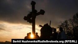 Вшанування пам'яті жертв Голодомору, у Пирогові під Києвом, 22 листопада 2018 року