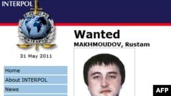 Ресей құқық органдары іздеу жариялаған Рустам Махмудовтың Интерпол сайтындағы суреті.
