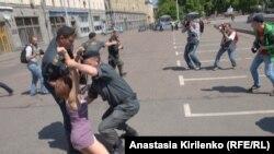 Задержания участников гей-парада в Москве