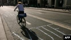"""""""Vote No"""" written on a Dublin street ahead of last year's EU Lisbon Treaty vote."""