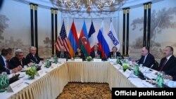 Переговори президентів Вірменії та Азербайджану за посередництва дипломатів США, Росії та Франції, Відень, 16 травня 2016 року