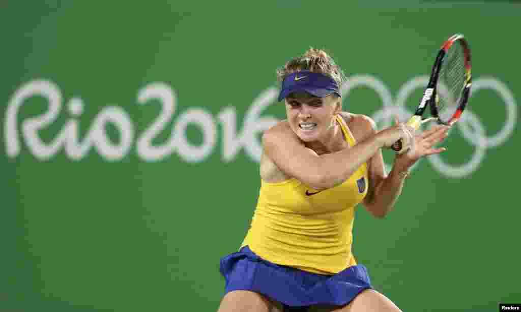 Українка Еліна Світоліна. Вона перемогла чотириразову олімпійську чемпіонку Серену Вільямс зі США.