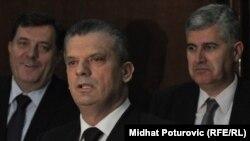 Milorad Dodik, Fahrudin Radončić i Dragan Čović