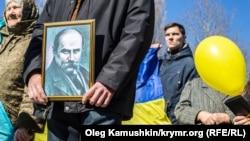 От митинга до подполья: как в Крыму отмечают день рождения Шевченко (фотогалерея)